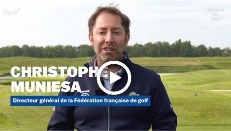 Christophe Muniesa présente les gestes barrieres du golf