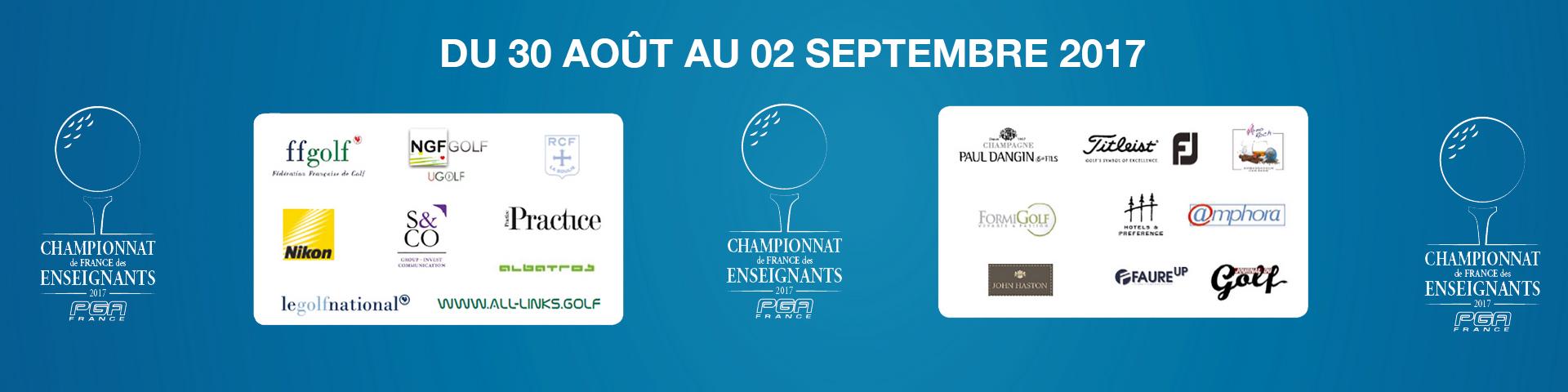 Partenaires PGA France Championnat de France des Enseignants 2017